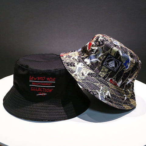 Sakana Black. Bucket Hat