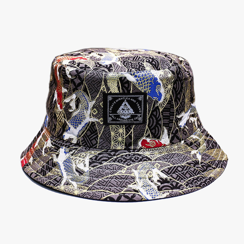 Sakana Black Bucket Hat