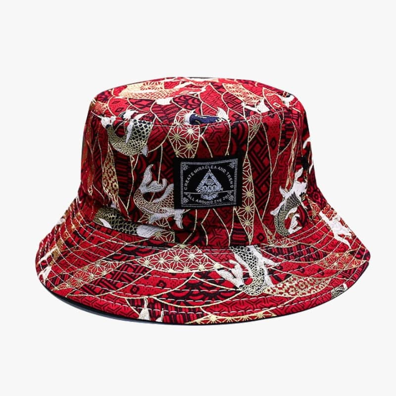 Sakana Red Bucket Hat