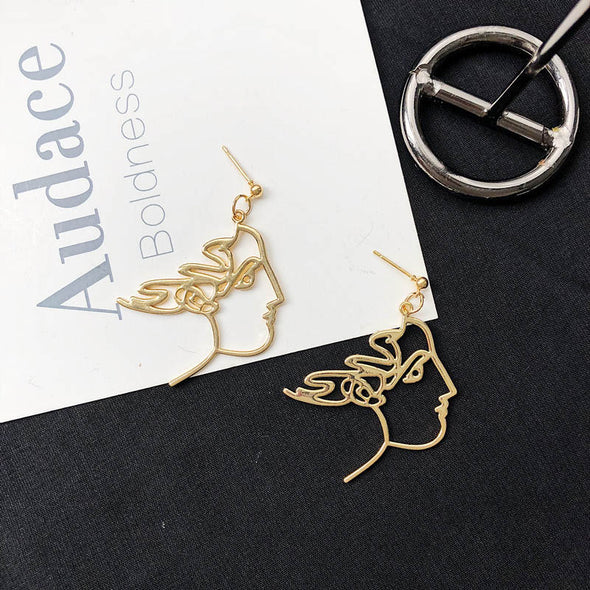 Abstract Goddess Earrings
