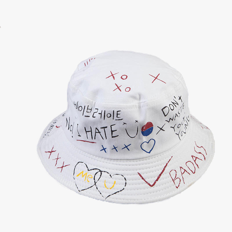 Chalk-a-doodle-do. Bucket Hat