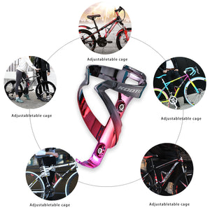 SAVA KOOTU Colorful electroplating bottle cage plastic, Two colors are available  (2021 new model)