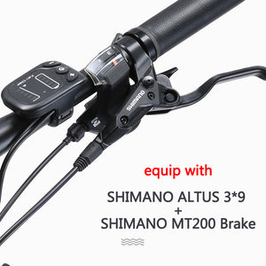 "SAVA Knight3.0 27.5"" carbon e montainbike,36V/13Ah SAMSUNG battery 250W brushless motor SHIMANO 27S"