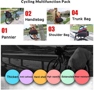 SAVA Multi Function Excursion Cycling Bicycle Bike Rear Seat Trunk Bag 35L