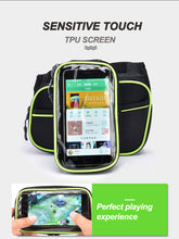 Load image into Gallery viewer, SAVA Cycling Bike Frame Tube Bag Waterproof Double Pouch 6.2 inch Cell Phone Smartphone Case