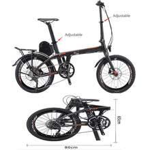 "Load image into Gallery viewer, SAVA E6 Carbon folding e-bike 20"" pedelec Samsung 36V 8.7AH Samsung battery 250W Motor Shimano 9S"