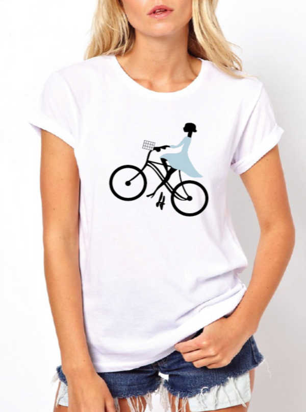 Girl On Bike Tee
