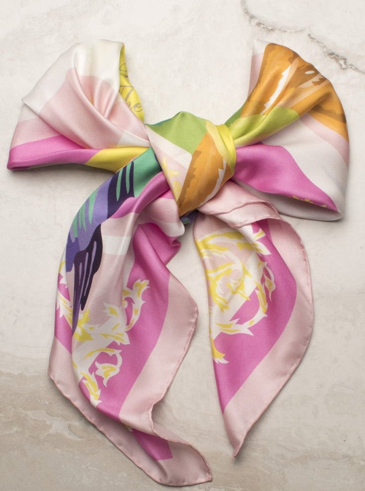 The Hummingbird Silk Scarf