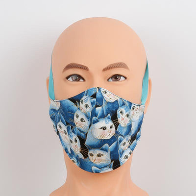 Cute Cat Fabric Face Masks are Adjustable and Reversible