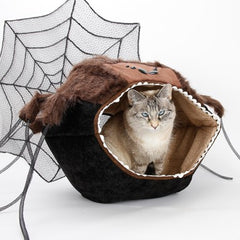 We love Halloween, and cats love spiders, so we made...