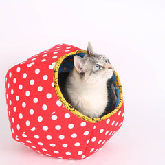 We created the mini size Cat Ball® cat bed for...