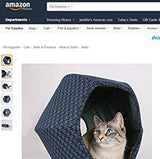 How to find the authentic Cat Ball cat bed on Amazon