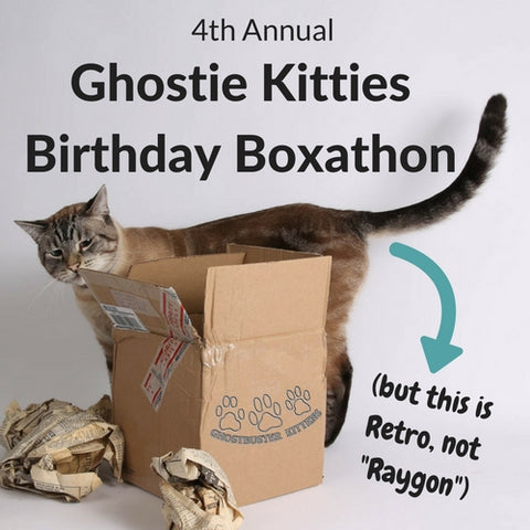 4th Annual Ghostie Kitties Birthday Boxathon benefitting Purrfect Pals Cat Shelter