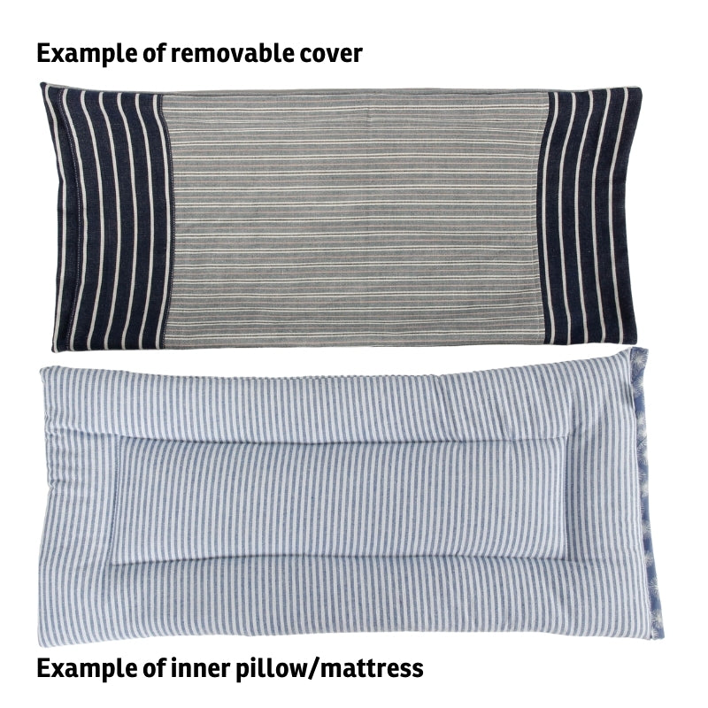 Example of the outer covering and inner pad for the CATTRESS™ pet bed