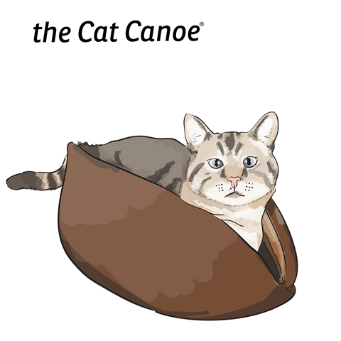 The Cat Canoe is a modern pet bed made by the Cat Ball, LLC