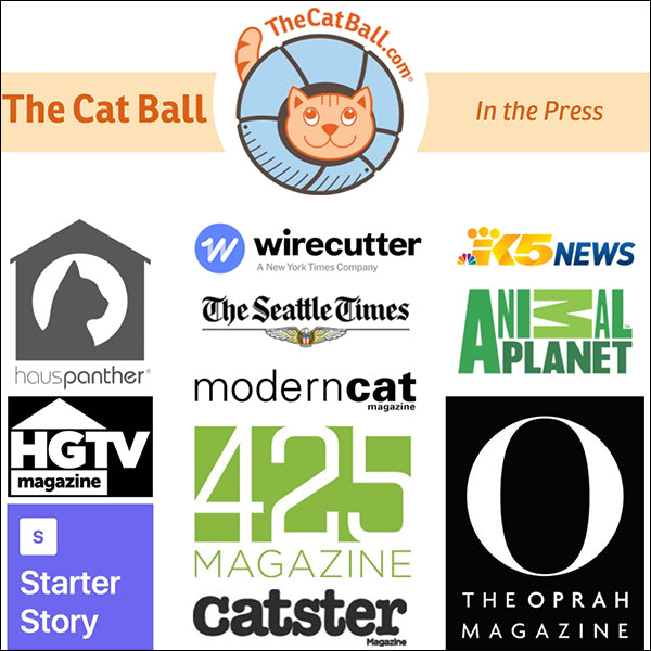 The Cat Ball has been featured in magazines, blogs, product reviews and interview spotlights