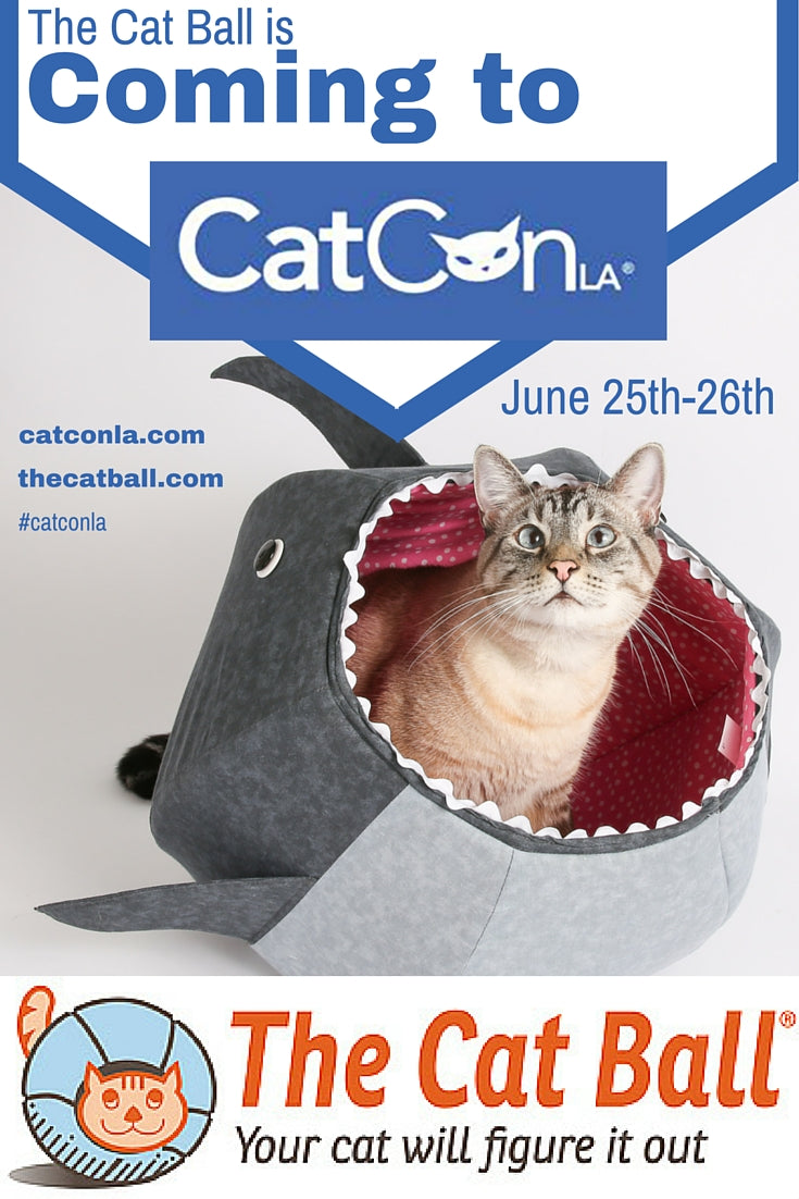 The Cat Ball is a vendor at CatConLA in 2016 and will be in Booth 420
