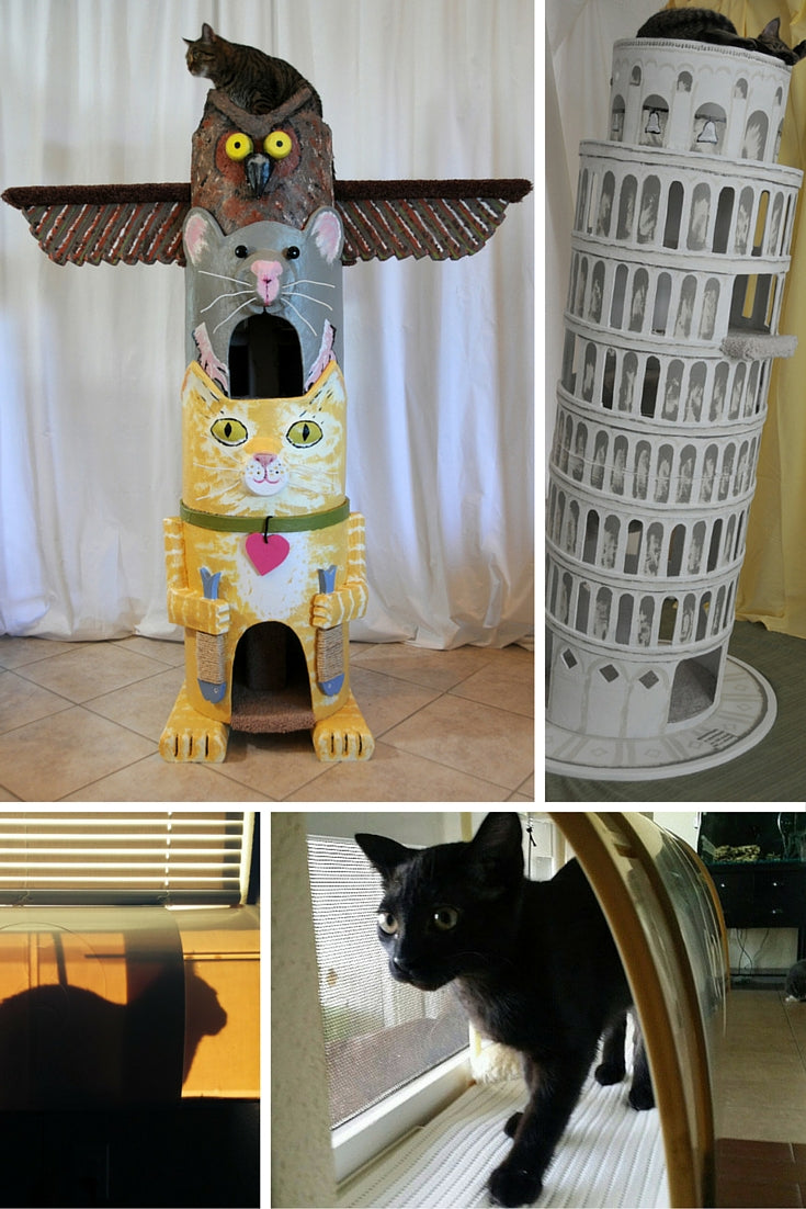 CatConLA will have vendors who make innovative cat furniture designs including Square Paws and Kitty Window