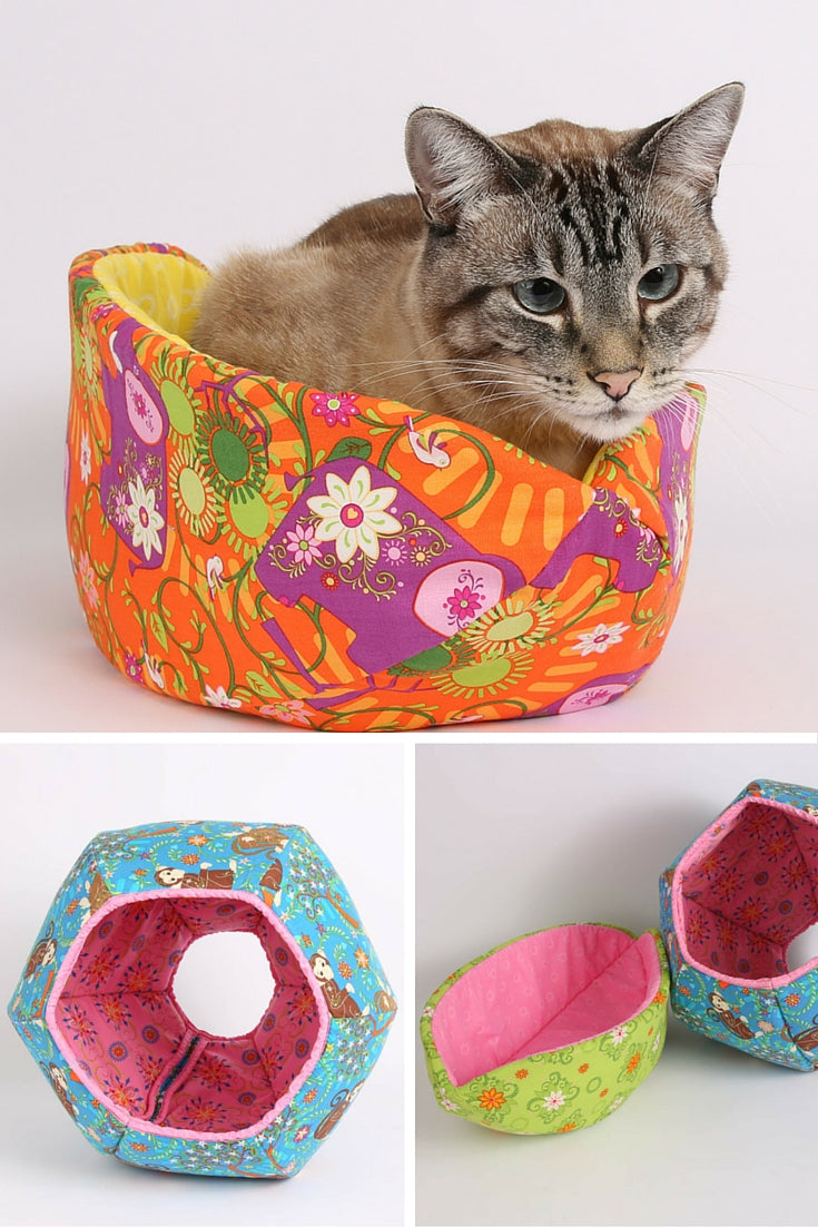 The Cat Ball and Cat Canoe designs in the Mystic Forest fabric collection