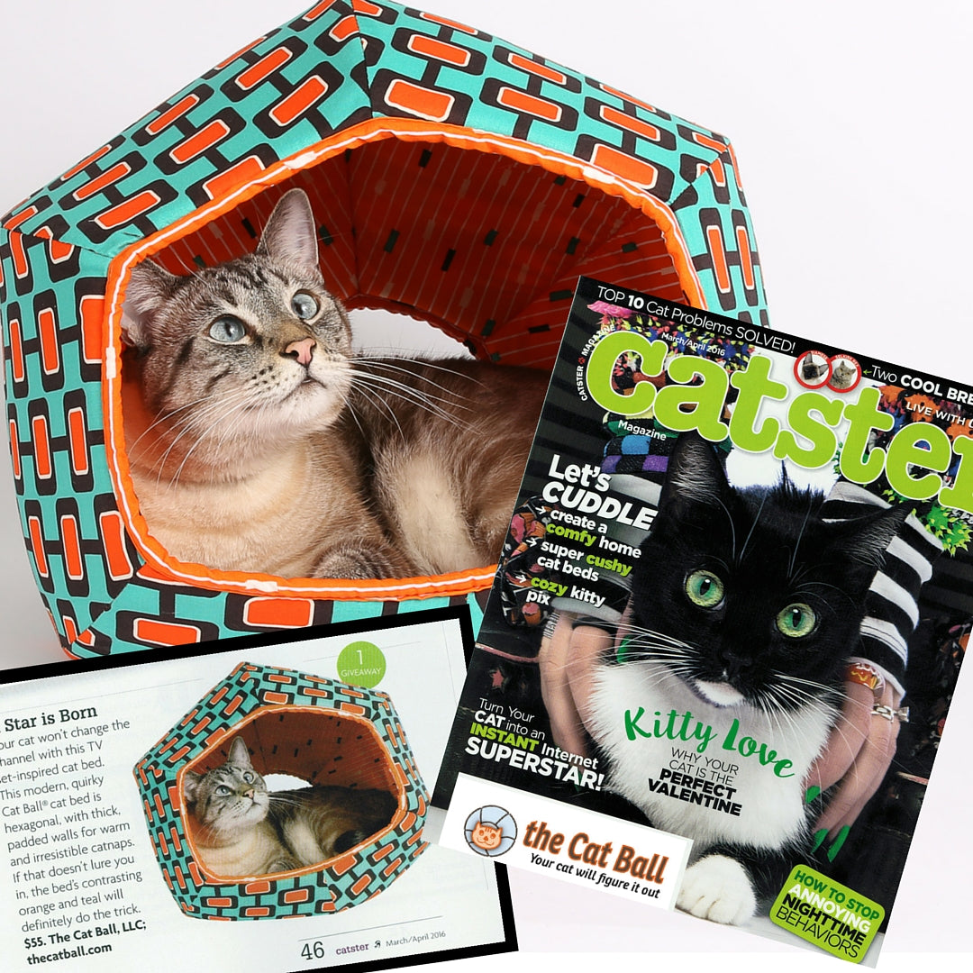 Catster Magazine included the Cat Ball cat bed in their March/April 2016 issue