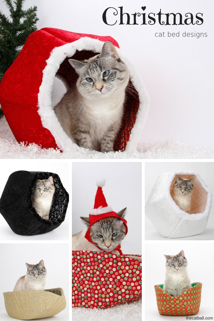 Christmas and holiday cat bed designs by The Cat Ball