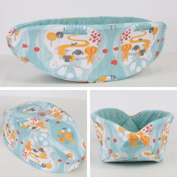 Custom Cat Canoe® made with an artist designed Wizard of Oz inspired fabric that was printed by Spoonflower
