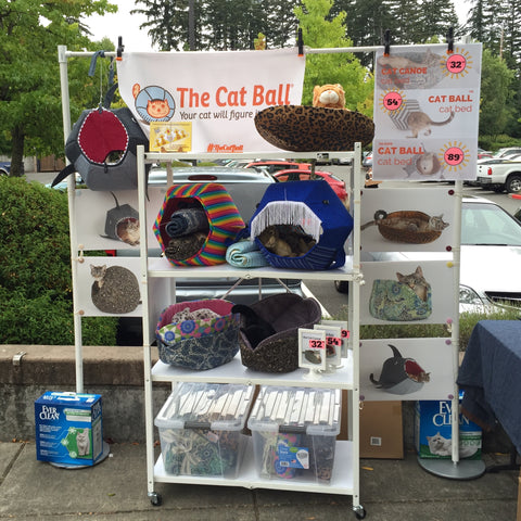 The Cat Ball boots at the Paddywack pet event in Mill Creek, Washington