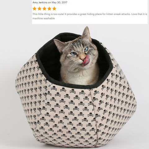 The mini size Cat Ball is a modern cat bed made for kittens and small cats