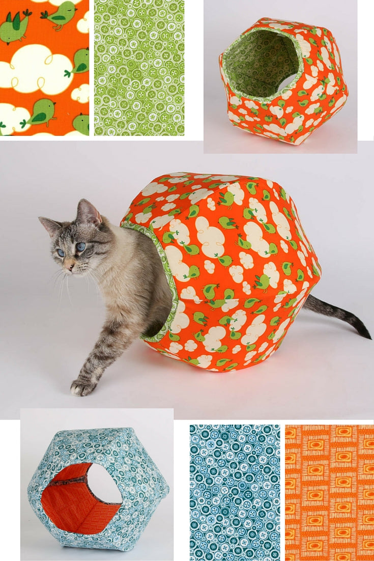 The new mini Cat Ball cat bed was designed for kittens and small cats and is made in the USA.
