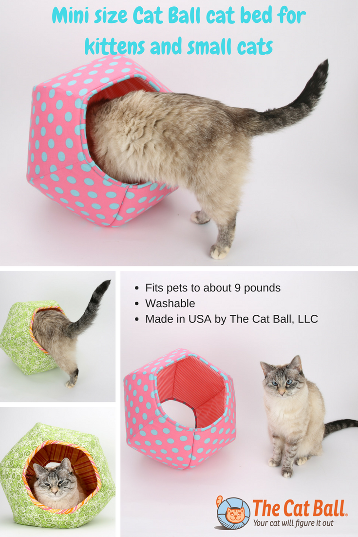 The mini size Cat Ball cat bed is ideal for kittens and small cats