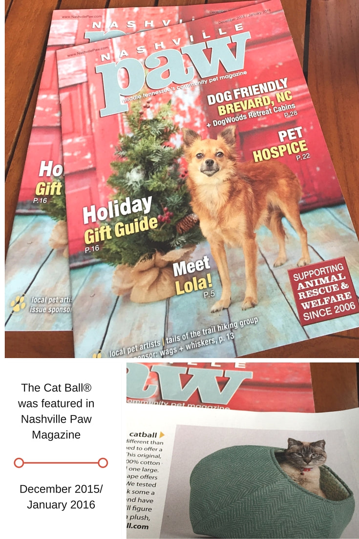 The Cat Ball in Nashville Paw magazine, December 2015