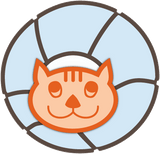 The CAT BALL cat bed logo