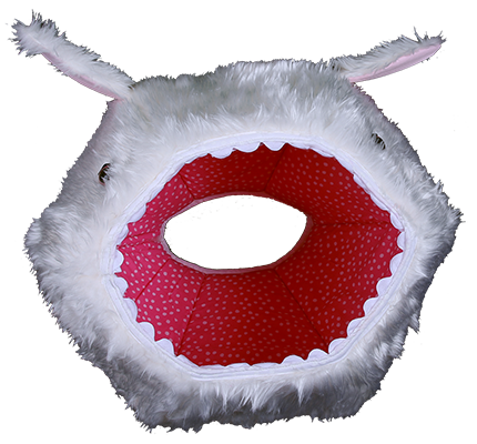 Hairy rabbit Cat Ball pet bed