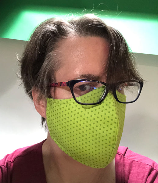 Wearing your face mask high and putting glasses on top can help manage fogging