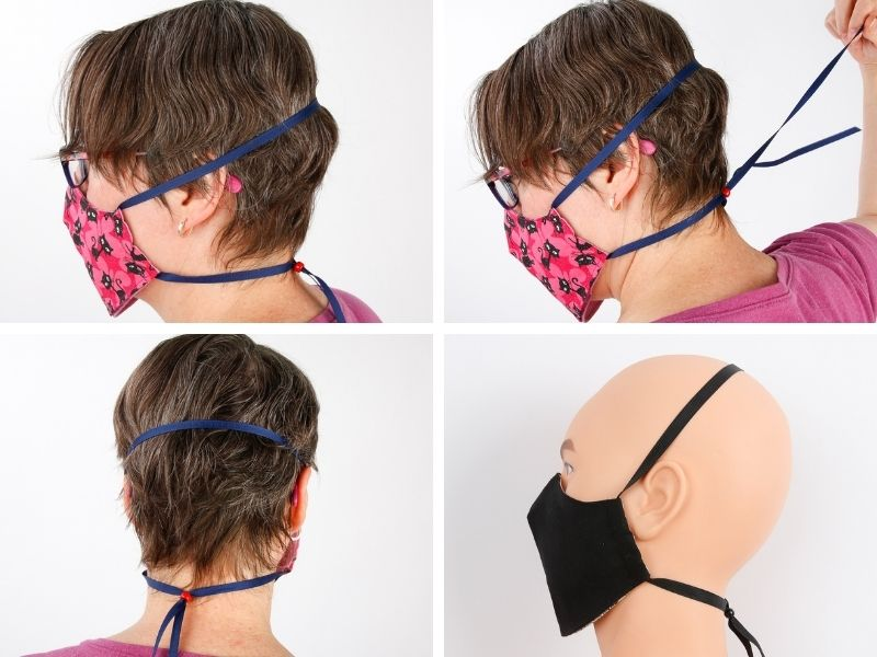 Want to keep your mask handy? The adjustable head strap is a lanyard that lets you to keep the mask conveniently around your neck.