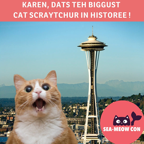 SEA-MEOW CON is Seattle's first cat convention, coming October 2019