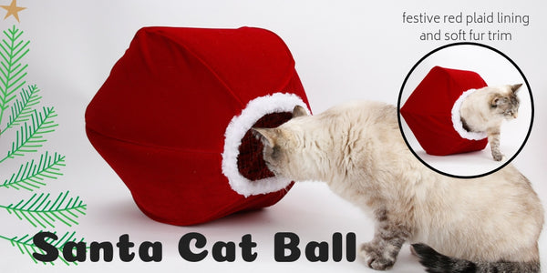 Santa Cat Ball cat bed for Christmas