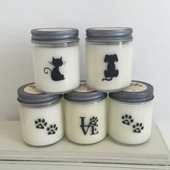 Soy based wax candle made by Shen & Sam Co.