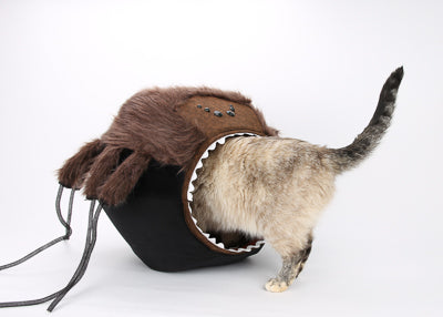 Our spider Cat Ball® cat bed is a variant of our standard size Cat Ball®, and suitable for pets to about 19 pounds.