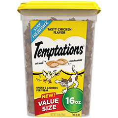 Temptations cat treats in this 16 oz. tub