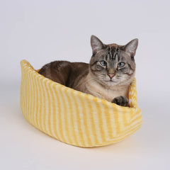 the CAT CANOE cat bed is made by The Cat Ball, LLC