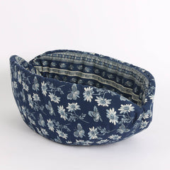 Cat Canoe Modern Cat Bed in Navy Blue Butterfly