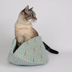 the jumbo CAT CANOE in aqua fabric