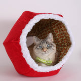Special edition Christmas fabric Cat Ball cat bed