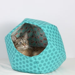 Cat Ball in Teal Dots