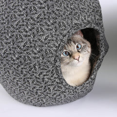 This Cat Ball is a modern cat bed with a gothic design appeal