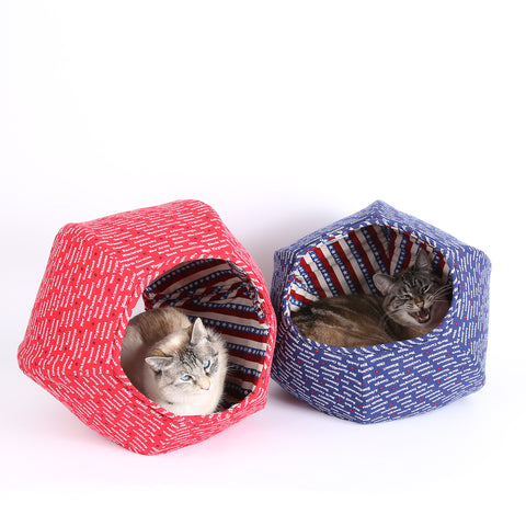 The CAT BALL cat bed remade as a Feline Voting Booth Contraption for the 2016 Presidential campaign just in case you want to Vote Cat