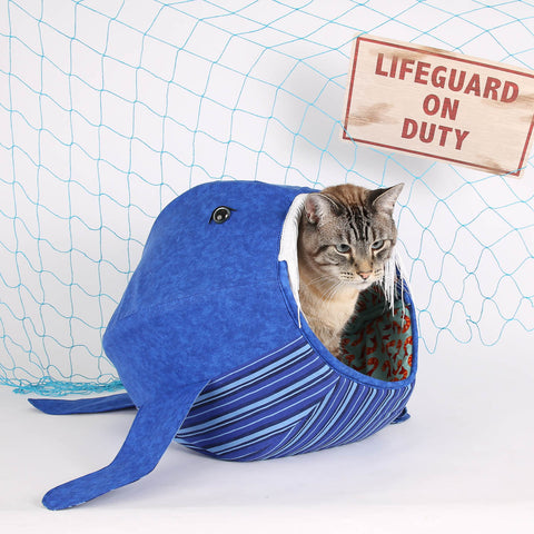 The whale Cat Ball cat bed