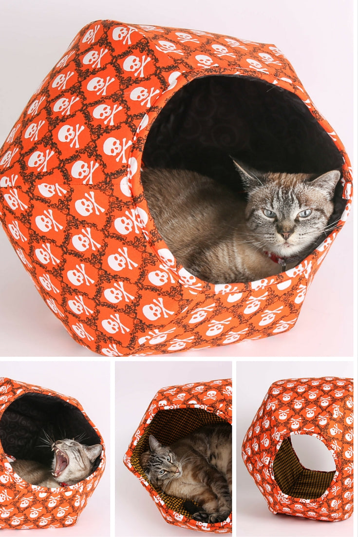Skull And Crossbones Cat Ball For Halloween And Your
