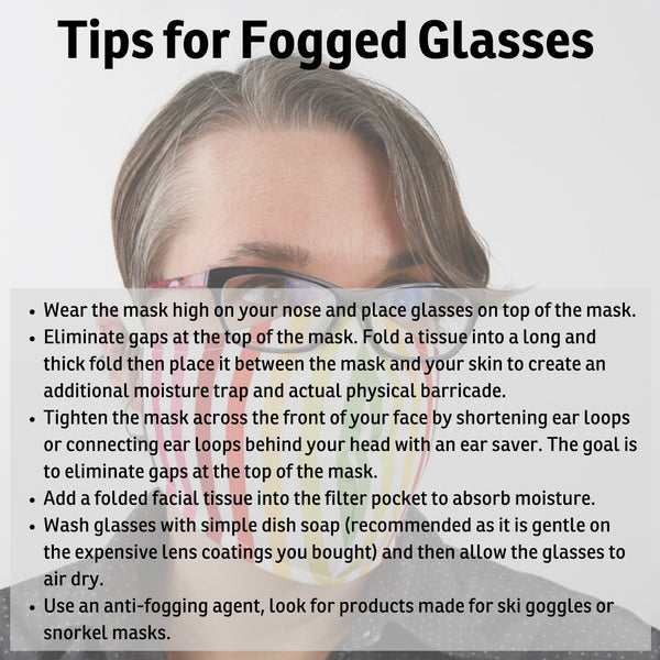 Tips for managing fogging on your glasses when you wear a face mask